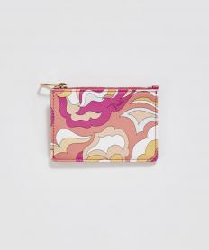 カードケース ジップ ピンク【送料無料】